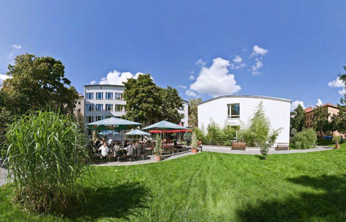 Berlín cafetería en el campus